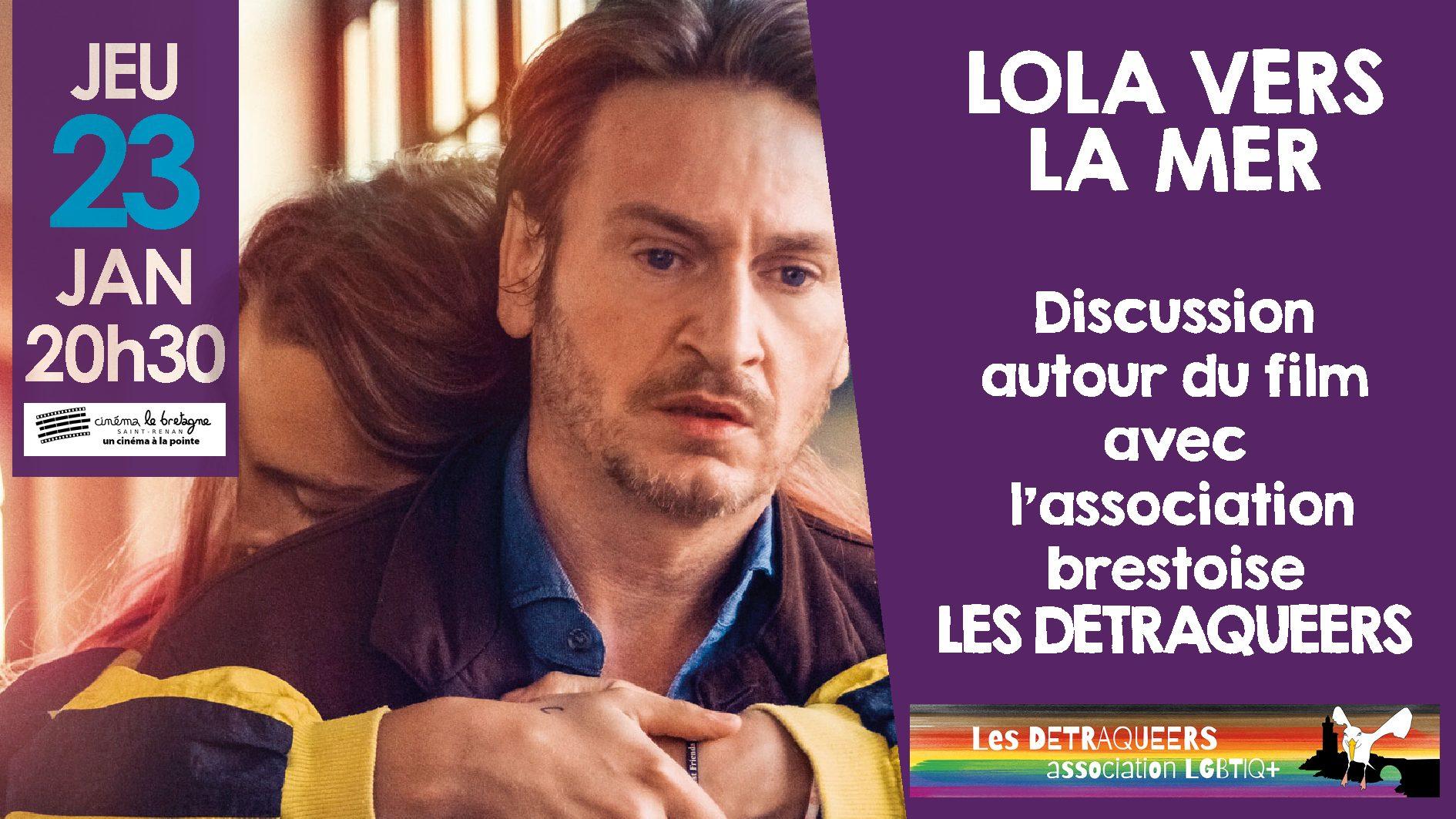 """Projection du film """"Lola vers la mer"""" suivie d'un débat, cinéma Le Bretagne à St-Renan"""