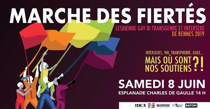 25ème édition de la Marche des Fiertés de Rennes